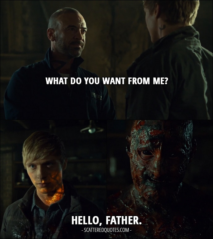 Quote from Shadowhunters 2x15 - Valentine Morgenstern: What do you want from me? Sebastian Verlac: Hello, Father.