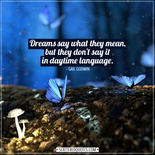 Dreams Quotes | Dreams say what they mean, but they don't say it in daytime language. - Gail Godwin