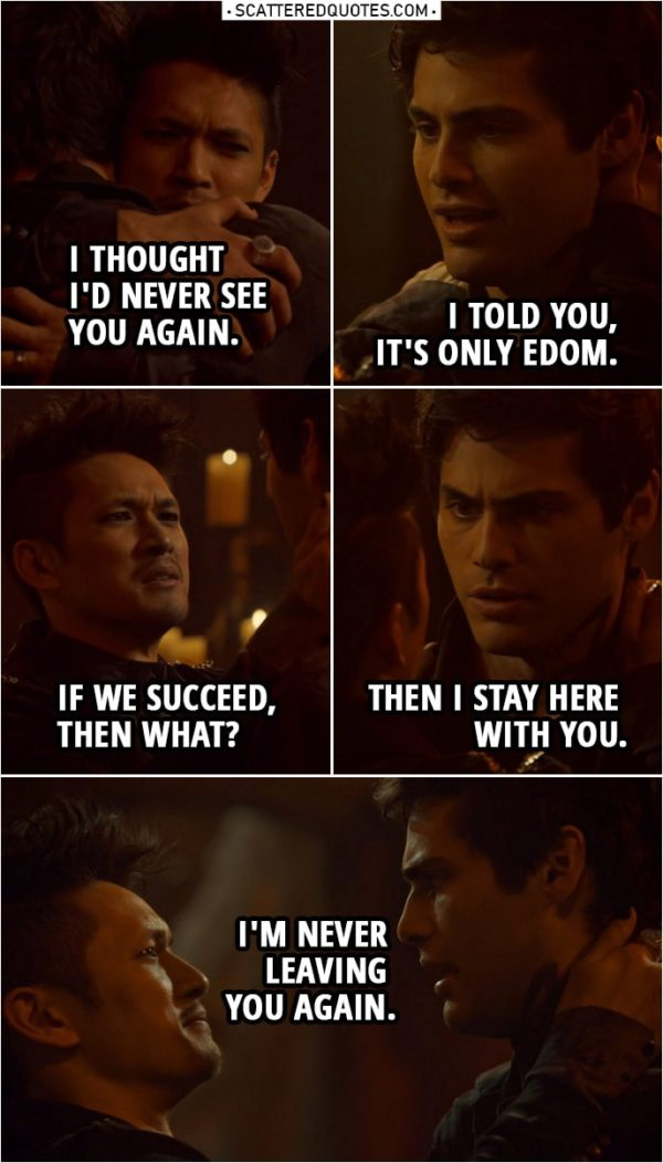 """Quote from Shadowhunters 3x21 