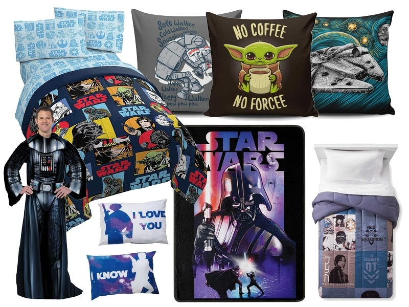 Star Wars Gift Guide - Bedding Pillows Blankets