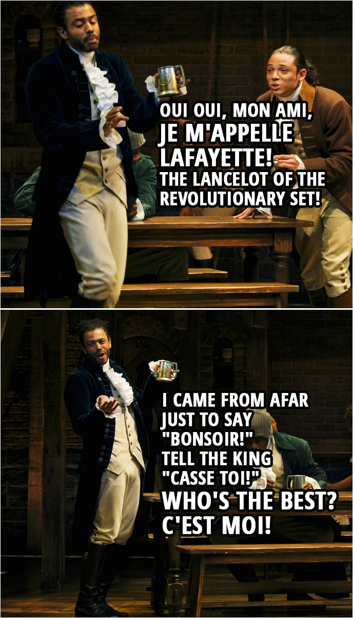 """Quote from Hamilton (An American Musical) 