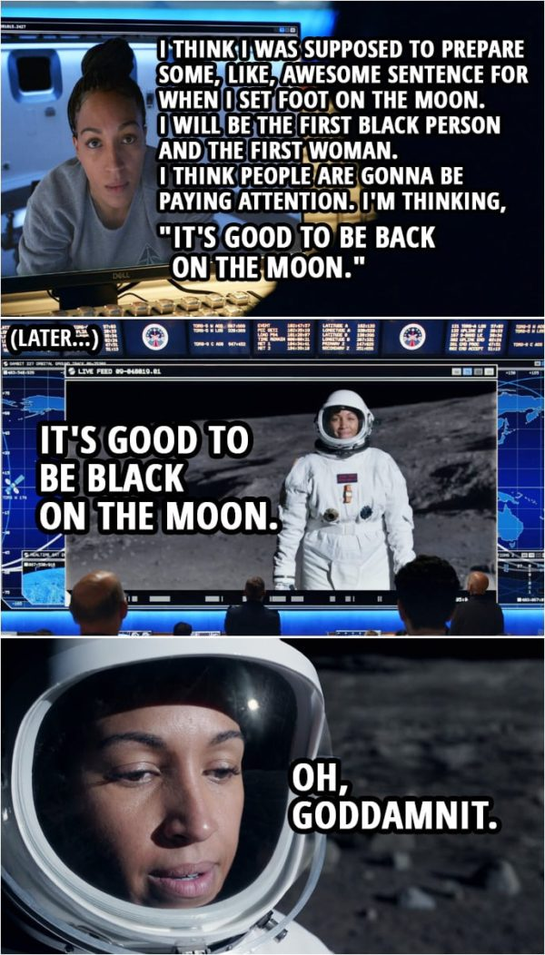 """Quote from Space Force 1x09 