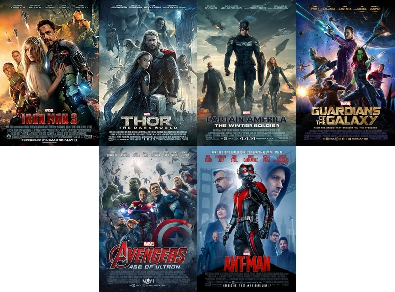 Marvel Cinematic Universe in Release Order - Phase 2