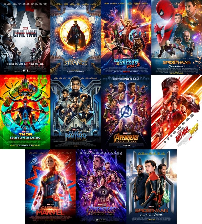 Marvel Cinematic Universe in Release Order - Phase 3