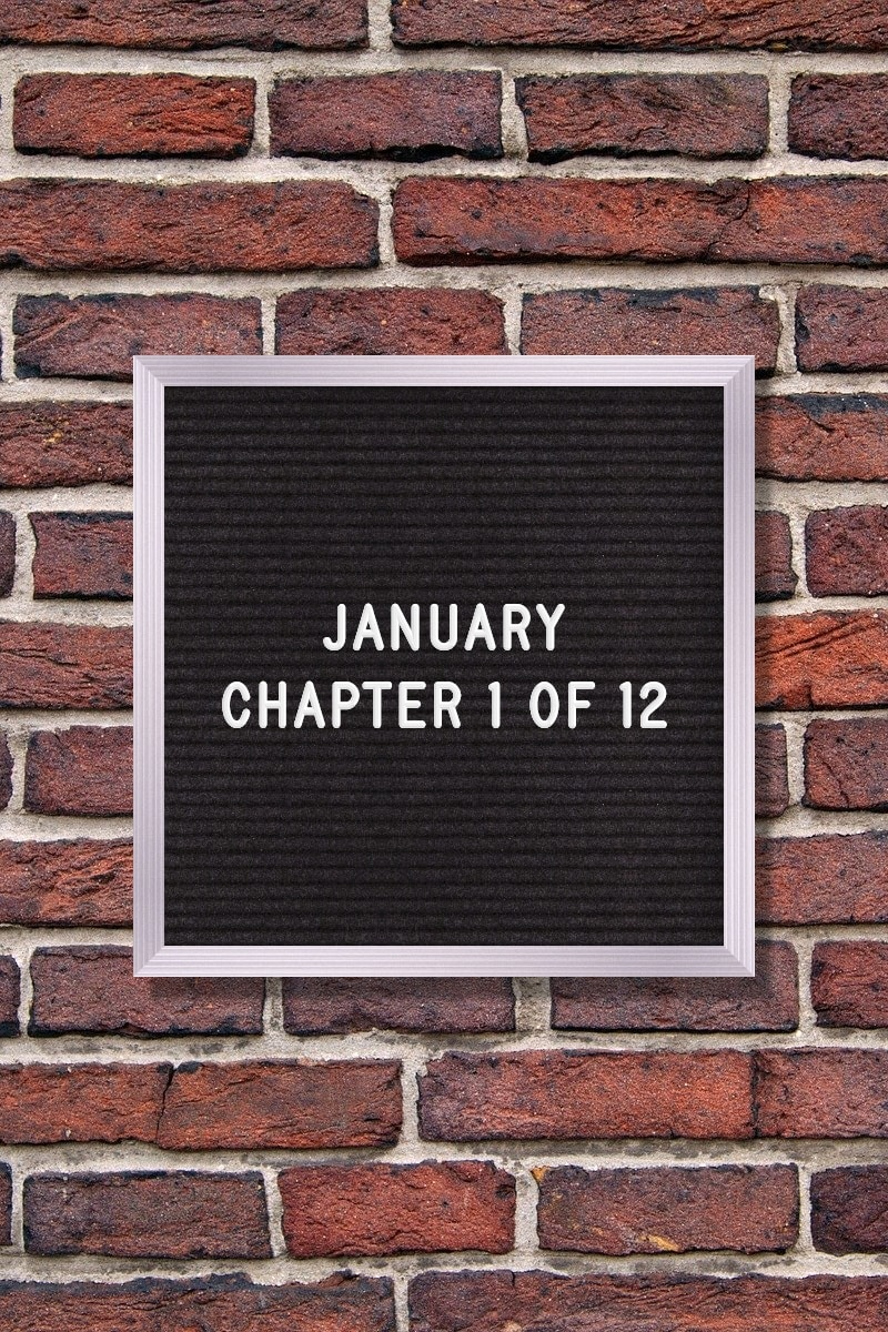 January Quote: January – Chapter 1 of 12.