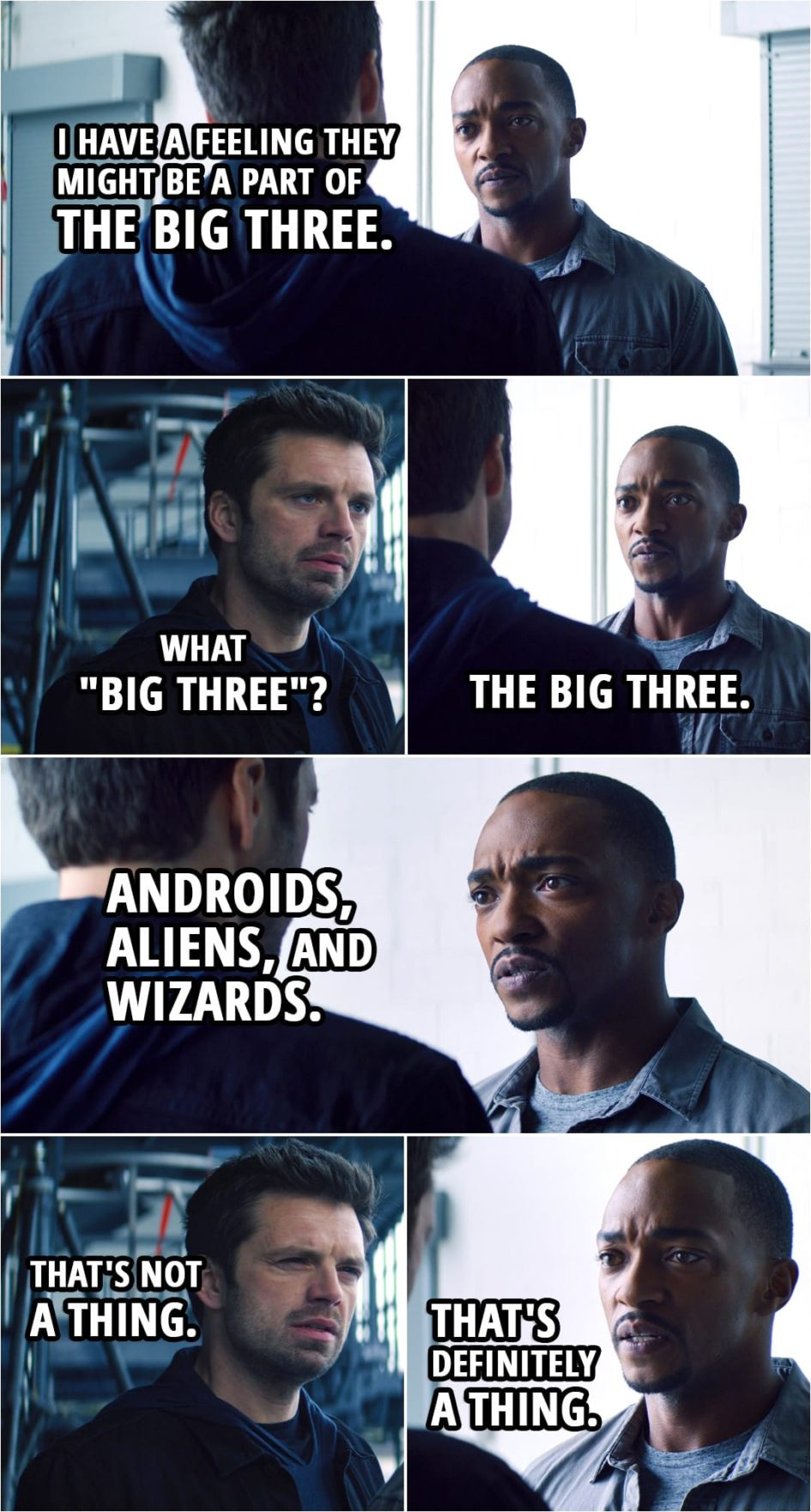 """Quote from The Falcon and The Winter Soldier 1x02 