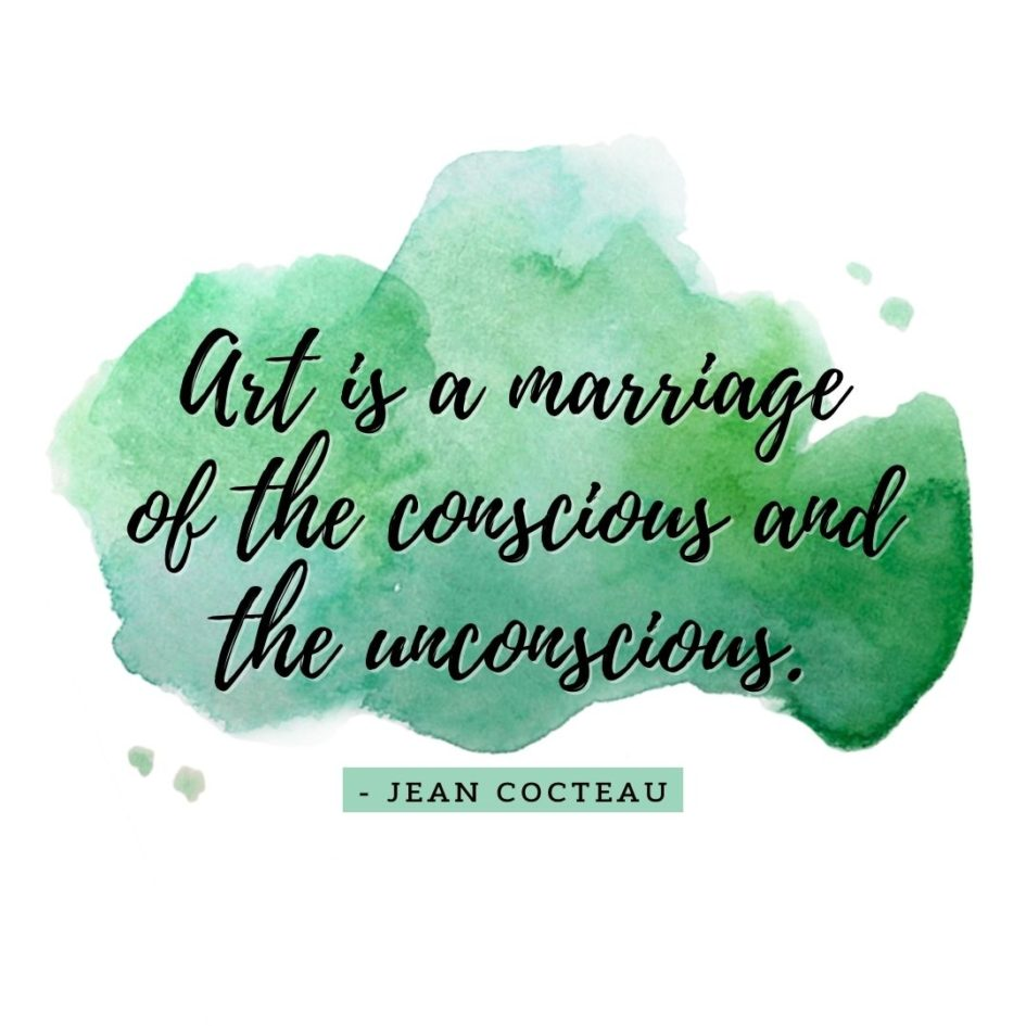 Quote about Art   Art is a marriage of the conscious and the unconscious. - Jean Cocteau