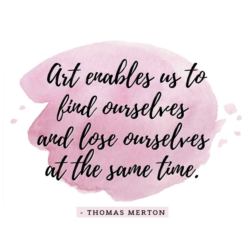 Quote about Art | Art enables us to find ourselves and lose ourselves at the same time. - Thomas Merton