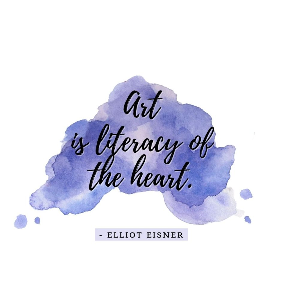 Quote about Art | Art is literacy of the heart. - Elliot Eisner