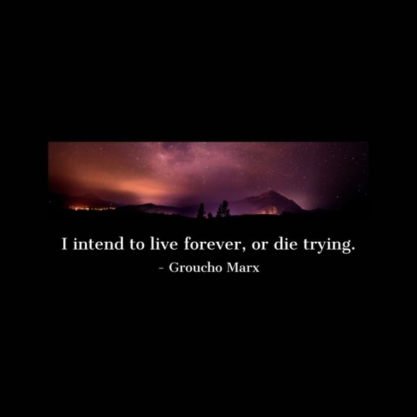 Quote about Death | I intend to live forever, or die trying. - Groucho Marx