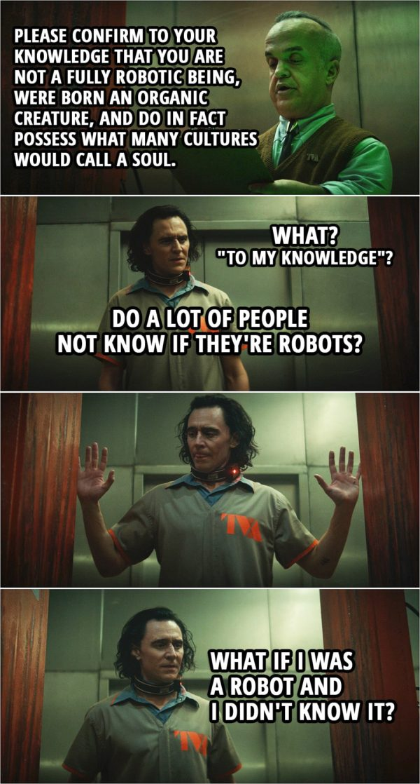 """Quote from Loki 1x01 