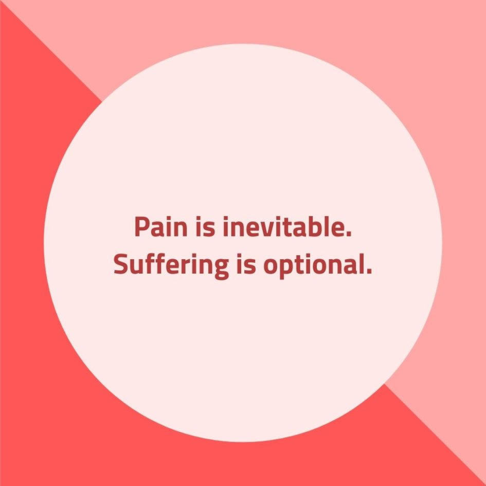 Quote about Pain | Pain is inevitable. Suffering is optional. - Buddhist proverb