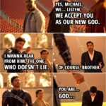 Quote from Lucifer 5x16   Michael: You ready to bend the knee, brother? Amenadiel: Yes, Michael, we... Listen, we accept you as our new God. Michael: Do you? I wanna hear from him. (points to Lucifer) The one who doesn't lie. Lucifer Morningstar: Of course, brother. You are... God... awful! I mean, what on Earth are you wearing? Is winter coming or something?